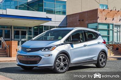 Insurance rates Chevy Bolt EV in Los Angeles
