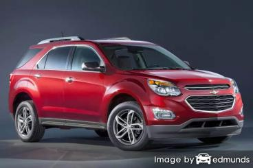 Insurance rates Chevy Equinox in Los Angeles