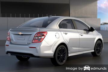Insurance rates Chevy Sonic in Los Angeles