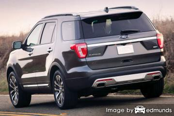 Insurance rates Ford Explorer in Los Angeles