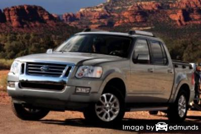 Insurance rates Ford Explorer Sport Trac in Los Angeles