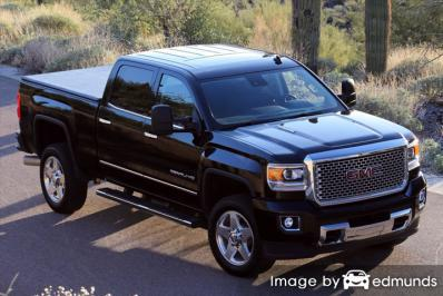 Insurance rates GMC Sierra 2500HD in Los Angeles