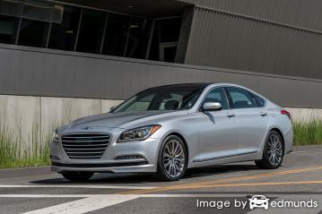 Insurance quote for Hyundai G80 in Los Angeles