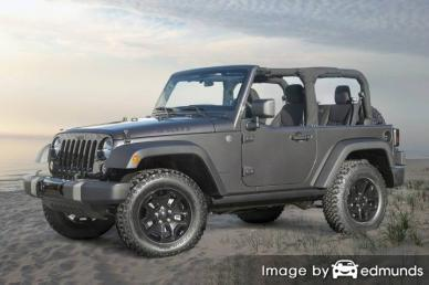 Insurance quote for Jeep Wrangler in Los Angeles