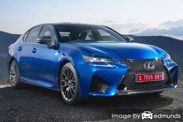 Insurance rates Lexus GS F in Los Angeles