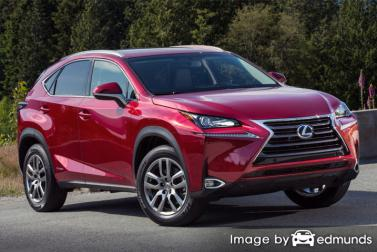 Insurance rates Lexus NX 300h in Los Angeles