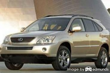 Insurance rates Lexus RX 400h in Los Angeles