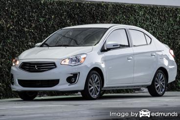 Insurance quote for Mitsubishi Mirage G4 in Los Angeles