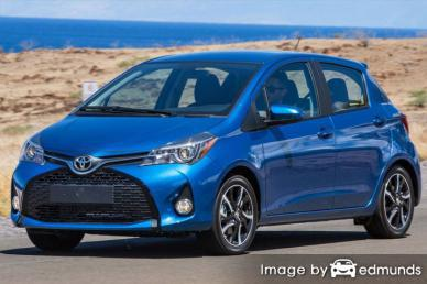 Insurance rates Toyota Yaris in Los Angeles